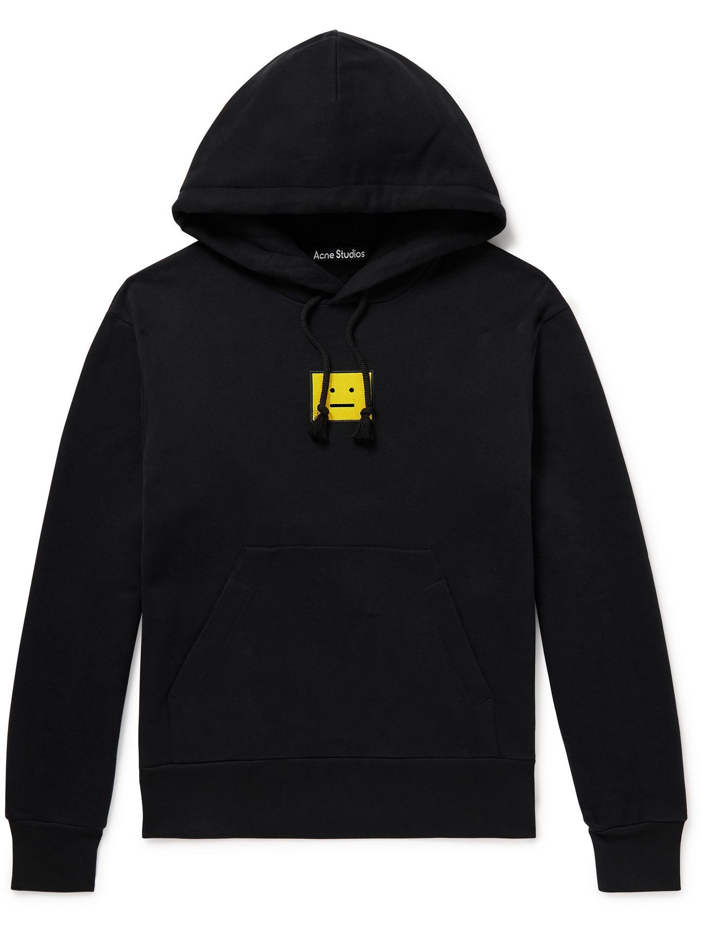 Photo: Acne Studios - Logo-Embroidered Cotton-Jersey Hoodie - Black