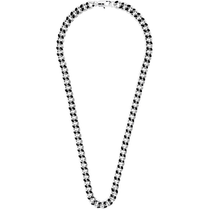 Photo: A.P.C. Silver and Black Marius Necklace
