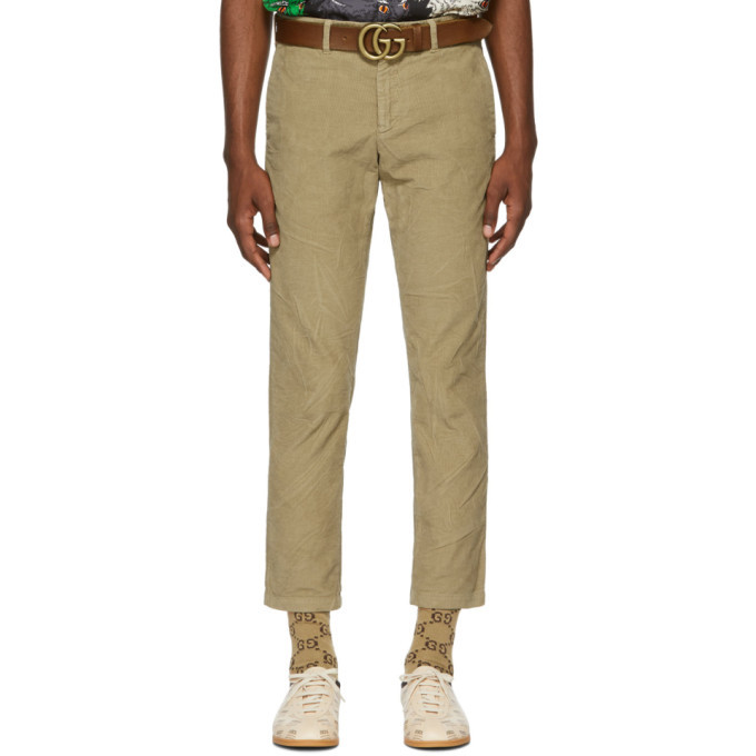 Photo: Gucci Beige Wrinkle Corduroy Chinos