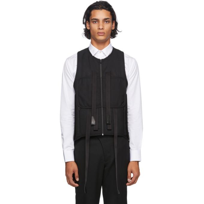 1017 ALYX 9SM Black Wool Modern Tactical Vest