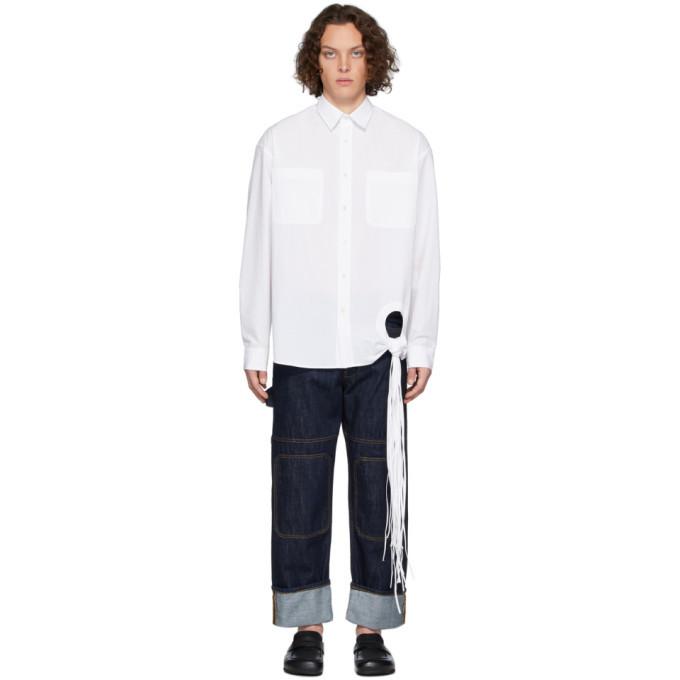 Photo: JW Anderson White Fringe Detail Shirt