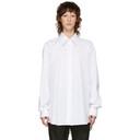 Raf Simons White Back Pleats Shirt