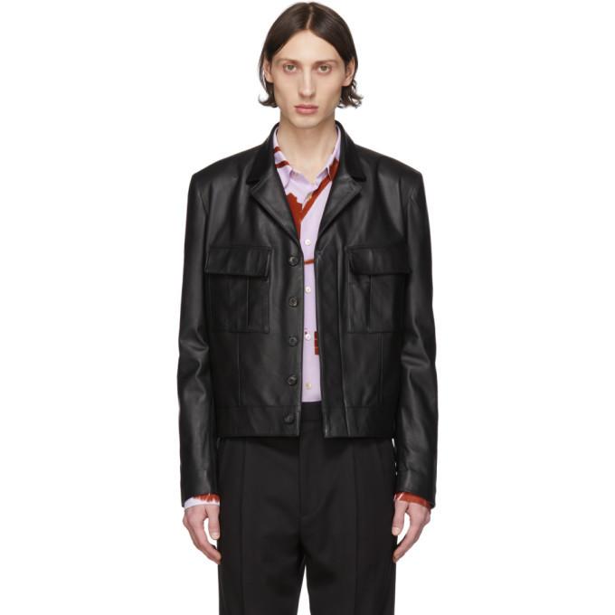 Photo: Paul Smith Black Leather Military Jacket