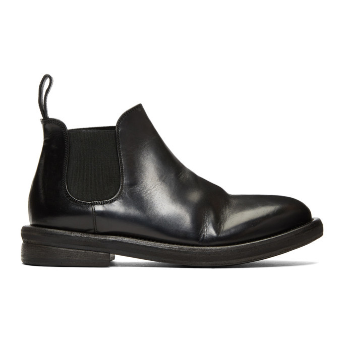 Photo: Marsell Black Bombolone Chelsea Boots