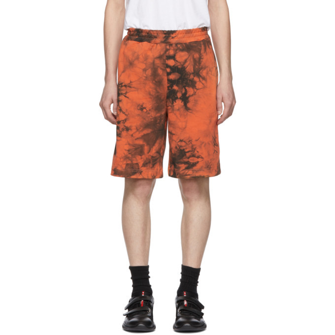 Photo: Helmut Lang Orange and Grey Terry Shorts