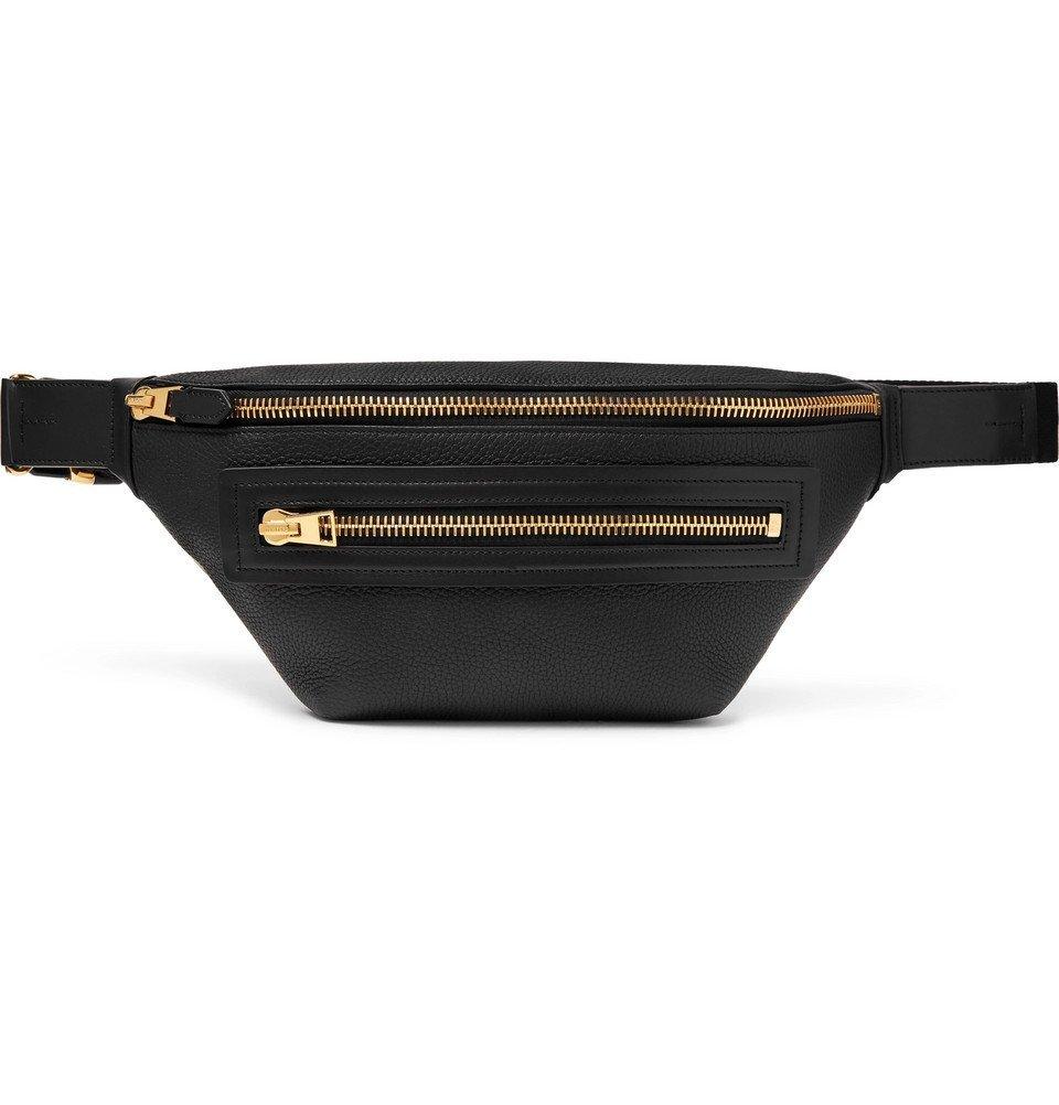 Photo: TOM FORD - Full-Grain Leather Belt Bag - Black