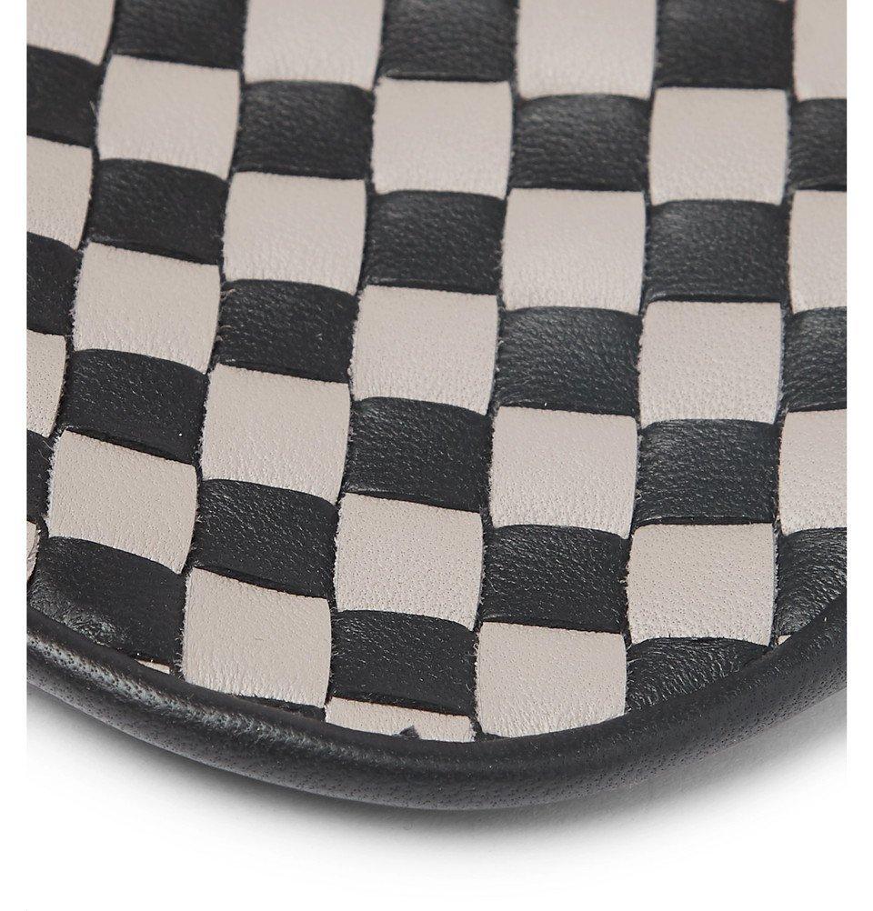 Bottega Veneta - Two-Tone Intrecciato Leather Eye Mask - Men - Black