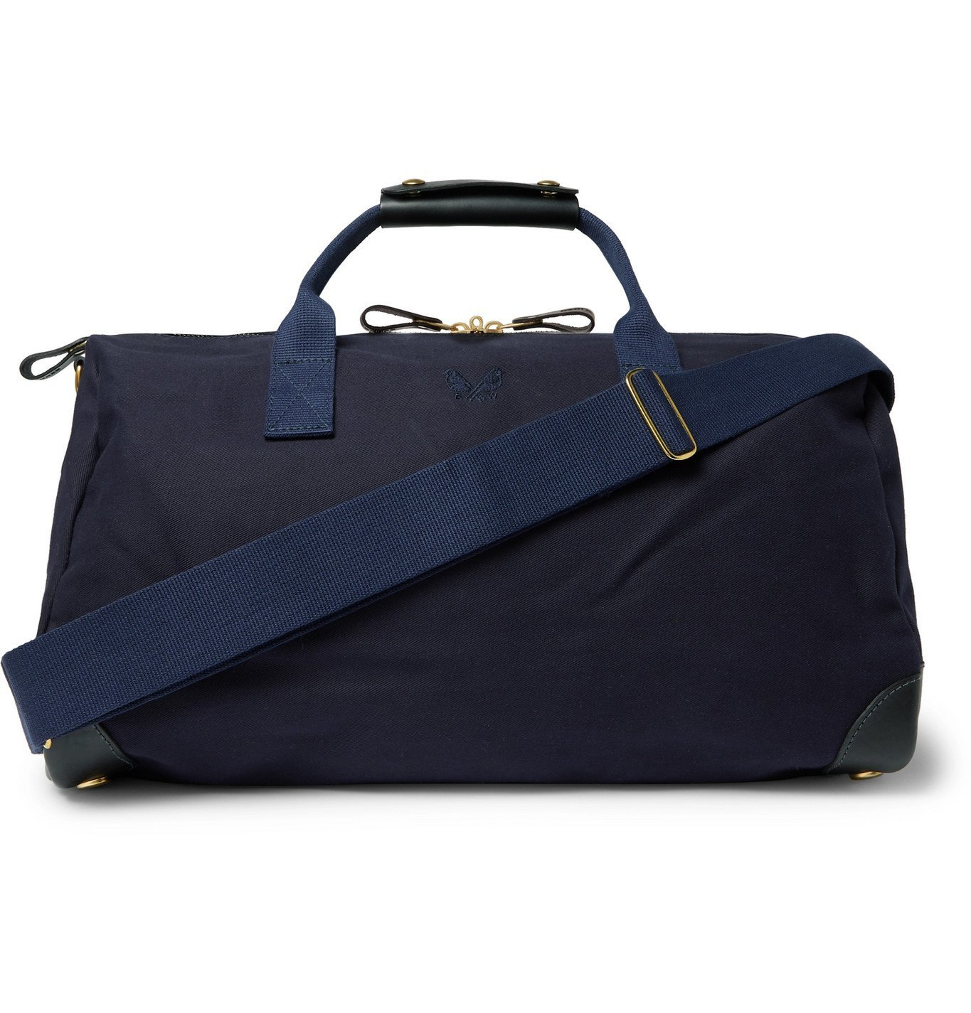 Photo: Bennett Winch - Commuter Leather-Trimmed Cotton-Twill Holdall - Blue