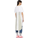 Comme des Garcons Homme Plus White Panelled Print T-Shirt Dress