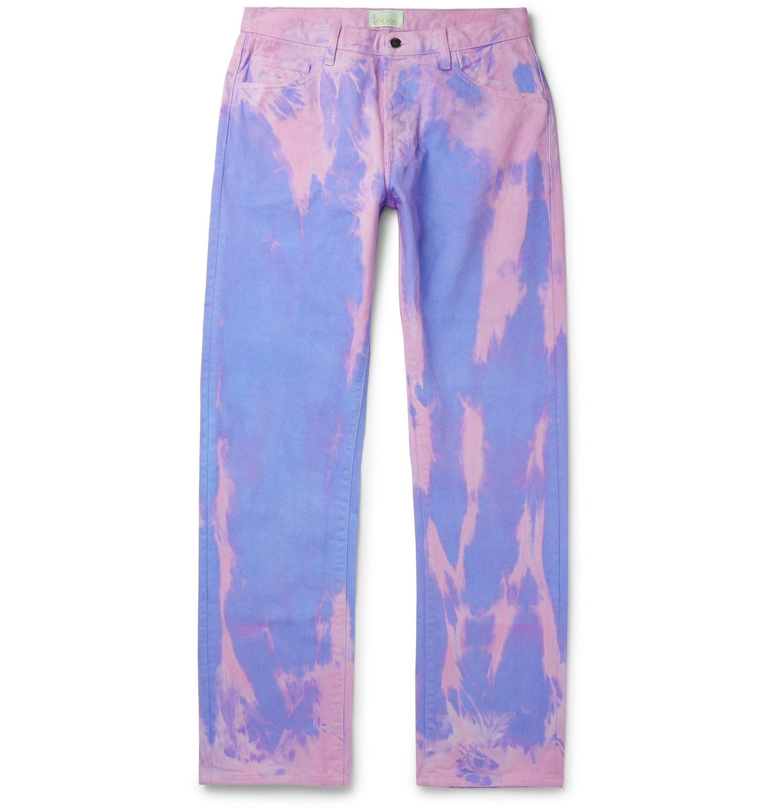 Aries - Lilly Tie-Dyed Denim Jeans - Pink