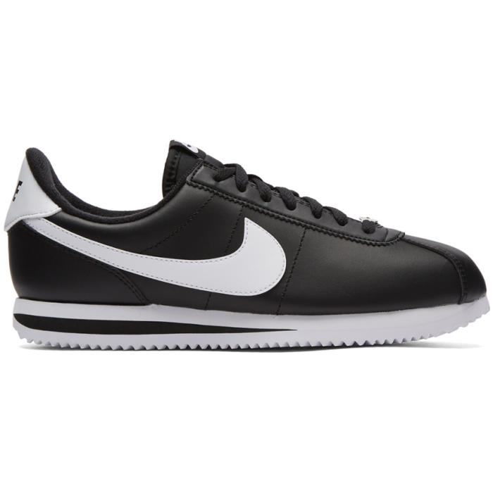 Photo: Nike Black Cortez Basic Sneakers