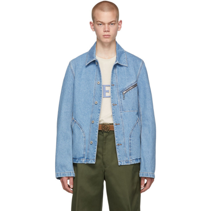 Photo: Loewe Blue Denim Zip Jacket