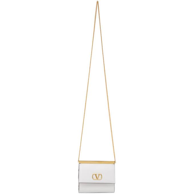 Photo: Valentino White Valentino Garavani VLogo Wallet Bag