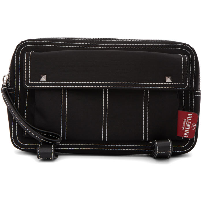 Photo: Valentino Black Valentino Garavani Contrast Stitch Body Bag