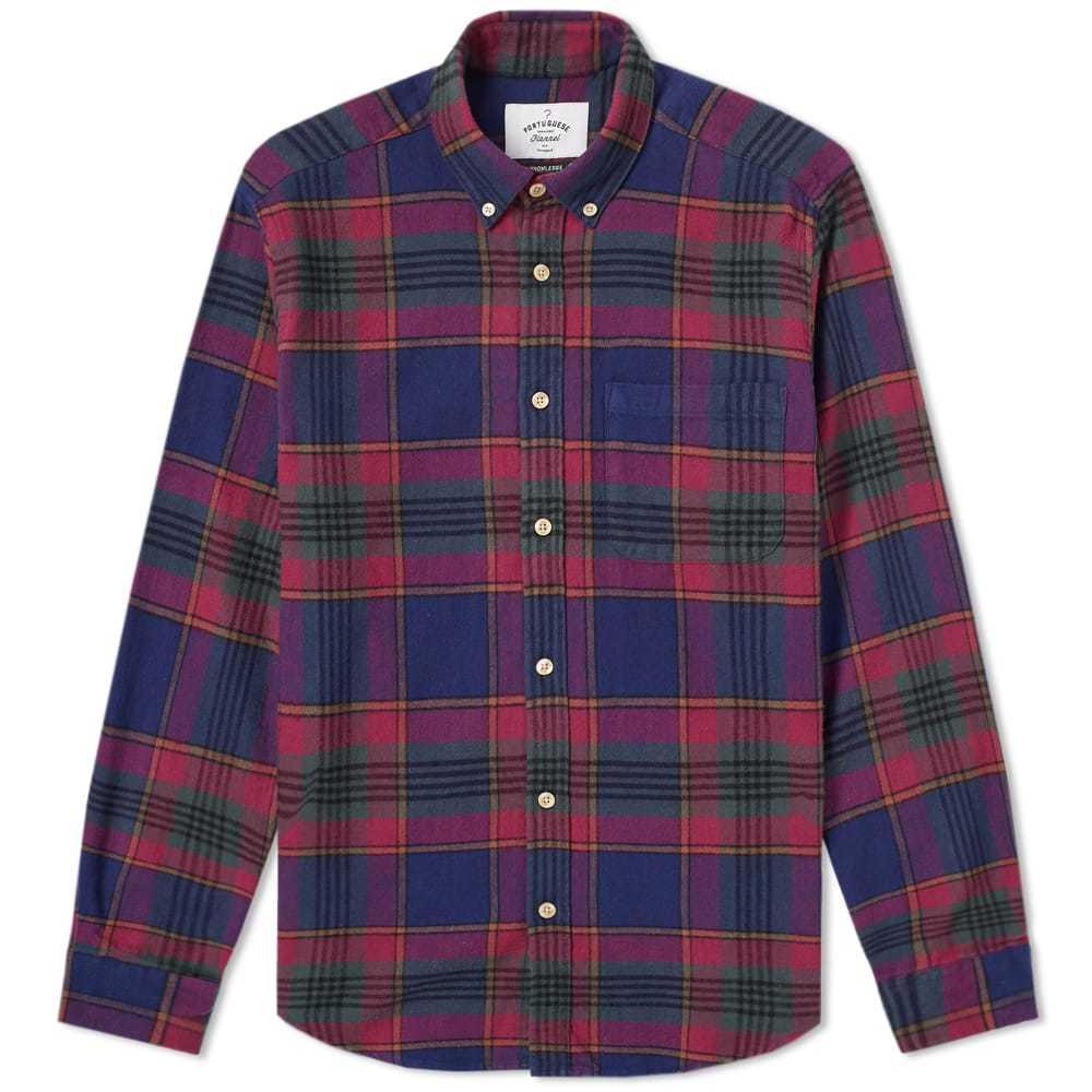 Photo: Portuguese Flannel Philadelphia Button Down Check Shirt Blue