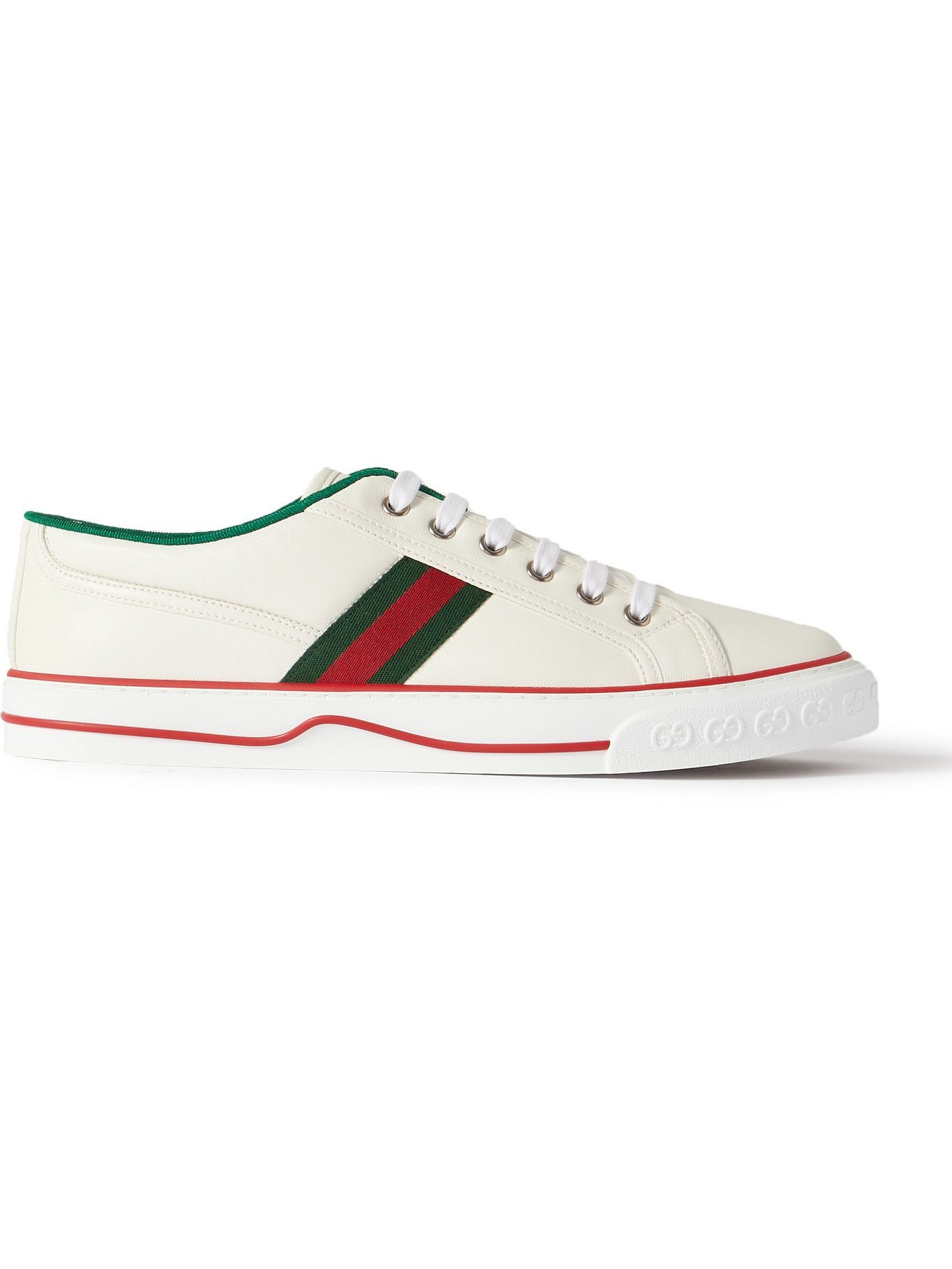 Photo: Gucci - Tennis 1977 Webbing-Trimmed Leather Sneakers - White