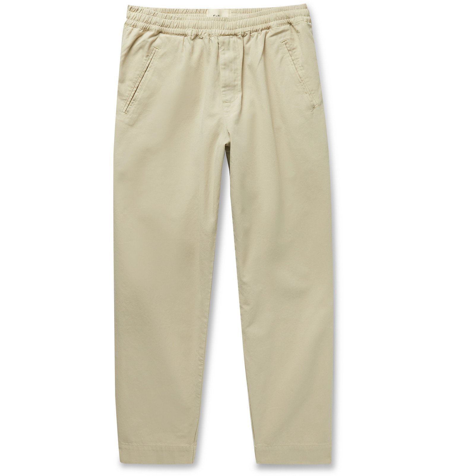 Photo: Folk - Assembly Tapered Cotton-Canvas Trousers - Neutrals