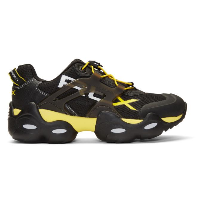 Photo: Polo Ralph Lauren Black and Yellow RLX Tech Sneakers