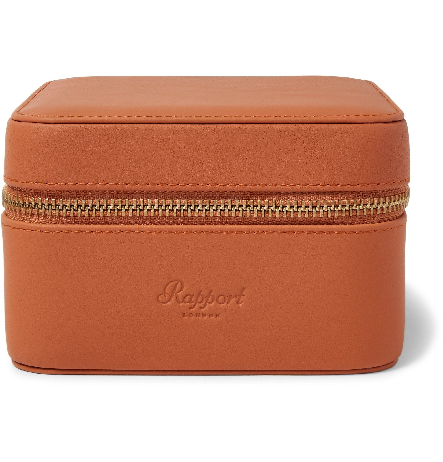 Photo: Rapport London - Hyde Park Zip-Around Leather Watch Box - Brown