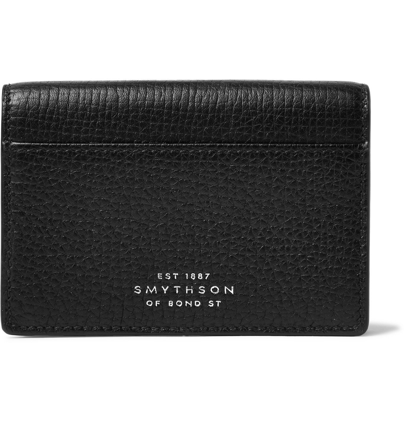 Smythson - Full-Grain Leather Bifold Cardholder - Black