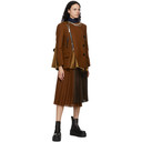 Sacai Brown Wool Pleated Skirt