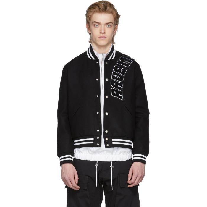 Photo: MISBHV Black Rave Me Varsity Jacket