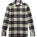 Dunhill - Checked Brushed Wool-Blend Flannel Shirt - Men - Black