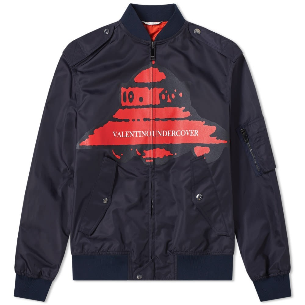 Photo: Valentino x Undercover UFO VU Front Printed Bomber