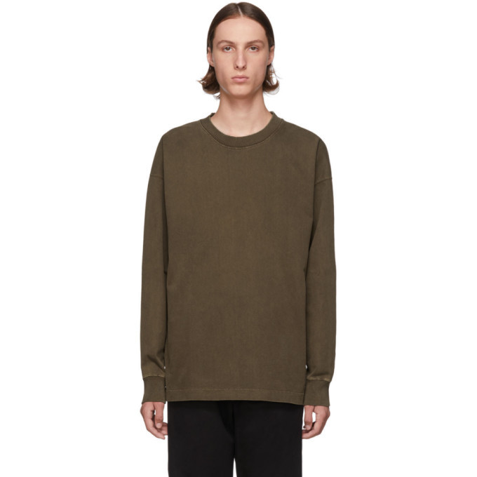 Photo: Lemaire Brown Half Raglan Sweatshirt