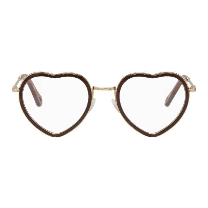 bc9a9bf50435 Photo  Chloe Brown and Gold Heart Glasses