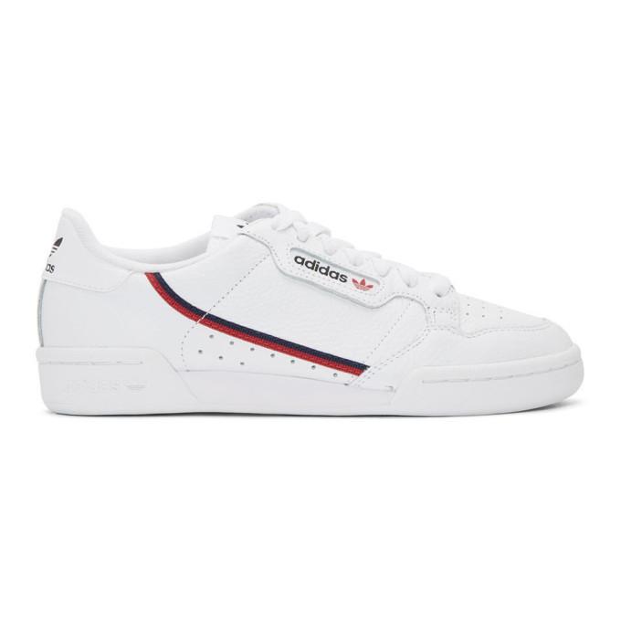 Photo: adidas Originals White Continental 80 Sneakers