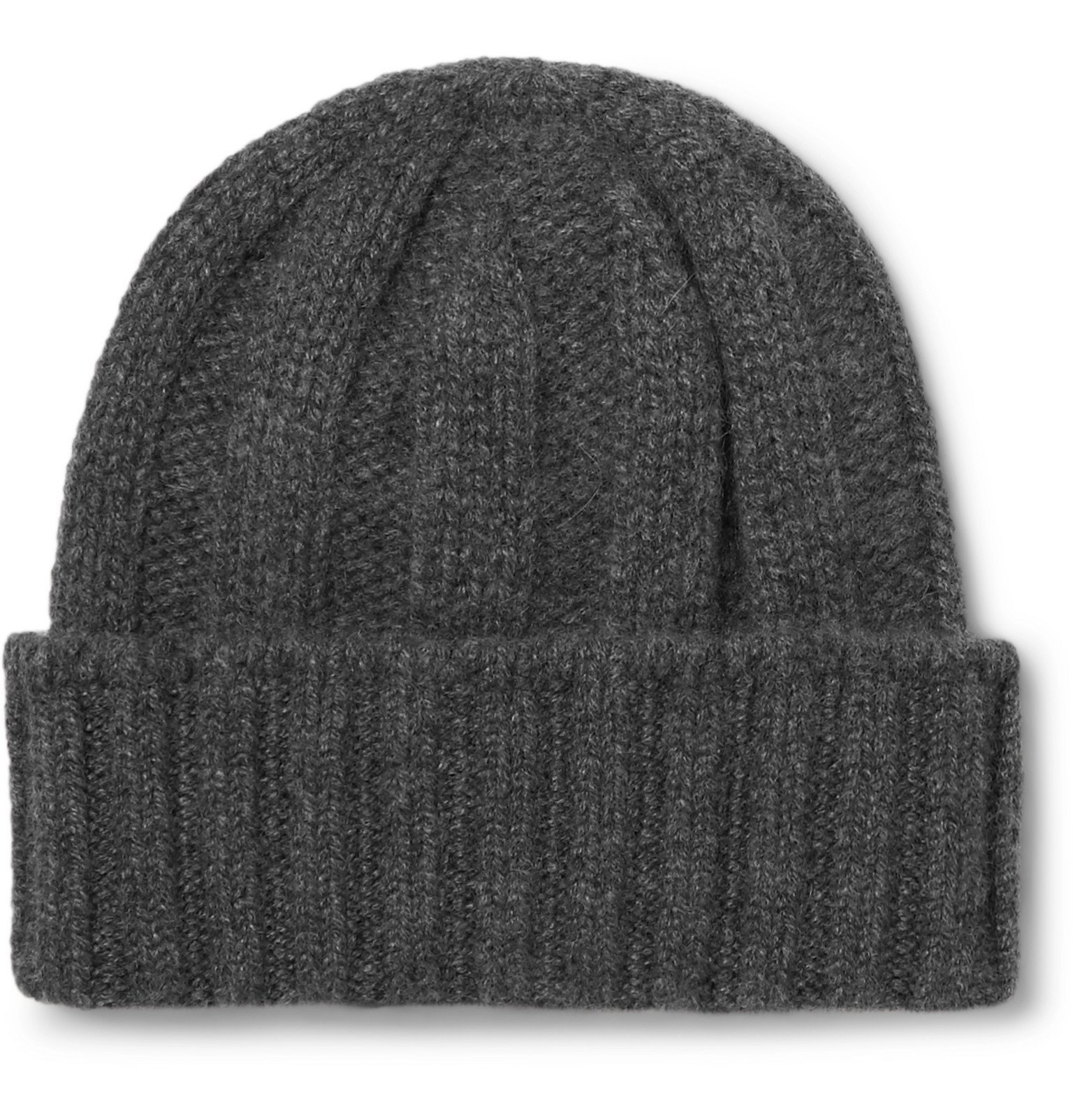 Photo: Beams Plus - Ribbed Cashmere Beanie - Gray