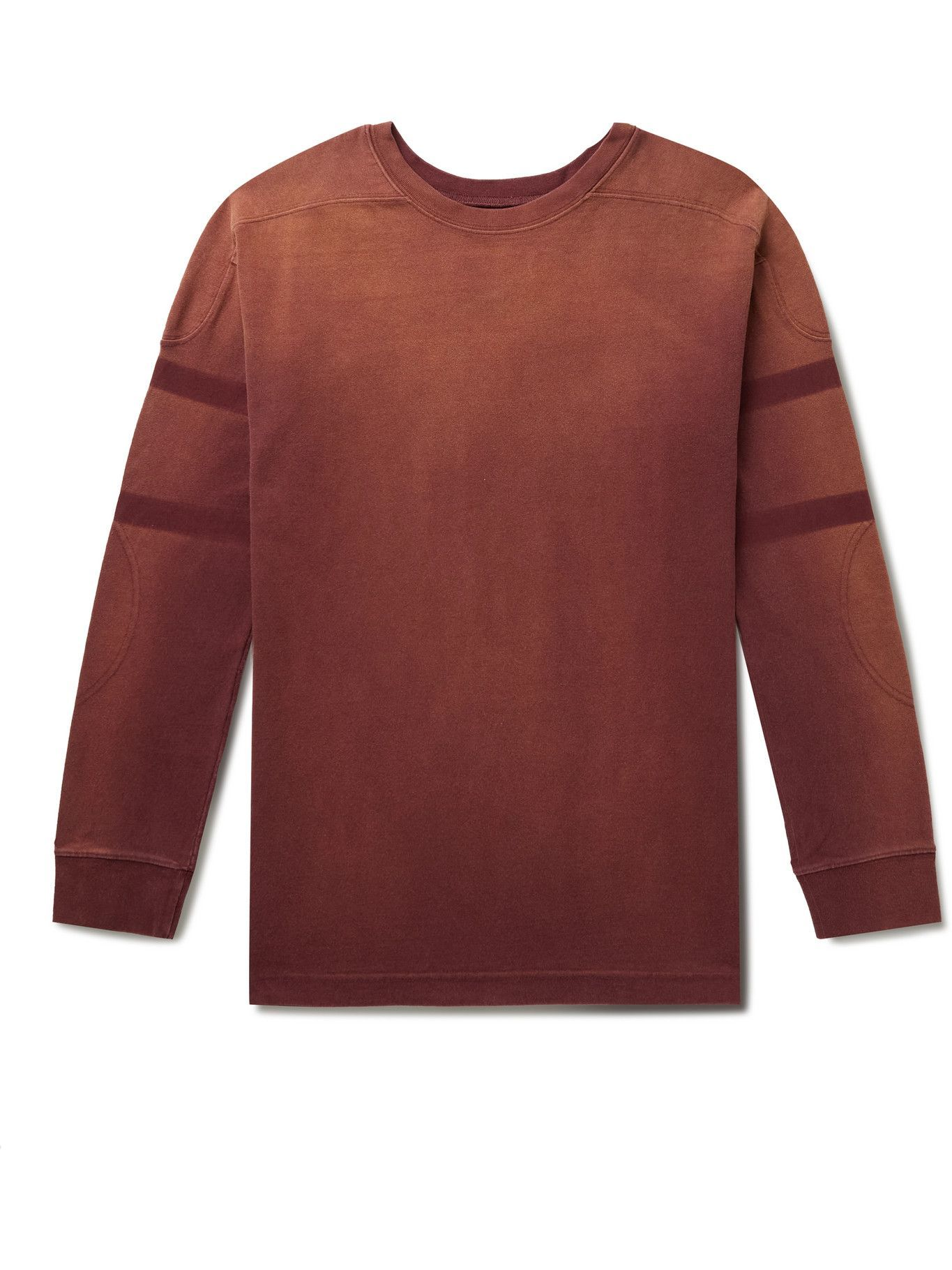 Photo: Maison Margiela - Slim-Fit Striped Cotton-Jersey Sweatshirt - Red