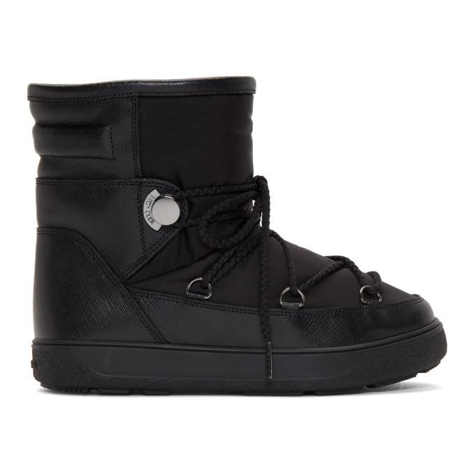 Moncler Black Stephanie Moon Boots Moncler