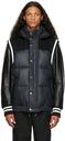 Sacai Black Insulated Hooded Varsity Jacket