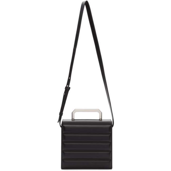Photo: Bottega Veneta Black Padded Mini Trunk Bag