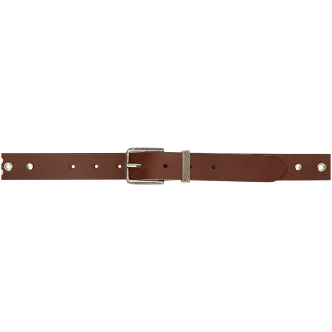 Photo: Lemaire Brown Studded Belt