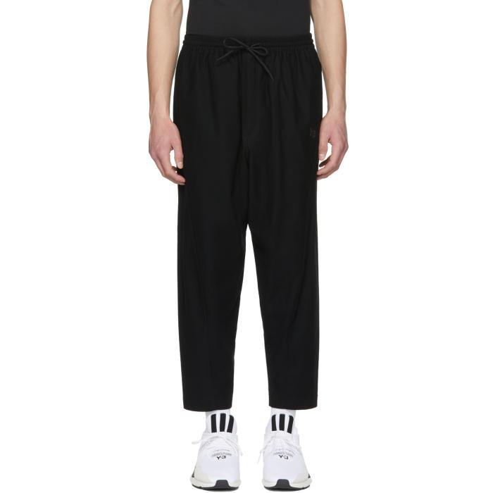 Y-3 Black Twill Sarouel Trousers