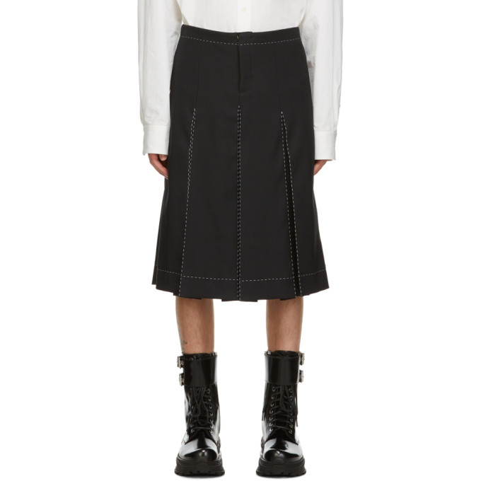 Photo: Maison Margiela Black Contrast Stitch Shorts
