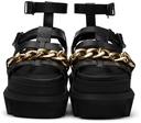 Sacai Black Gurkha Chain Platform Sandals