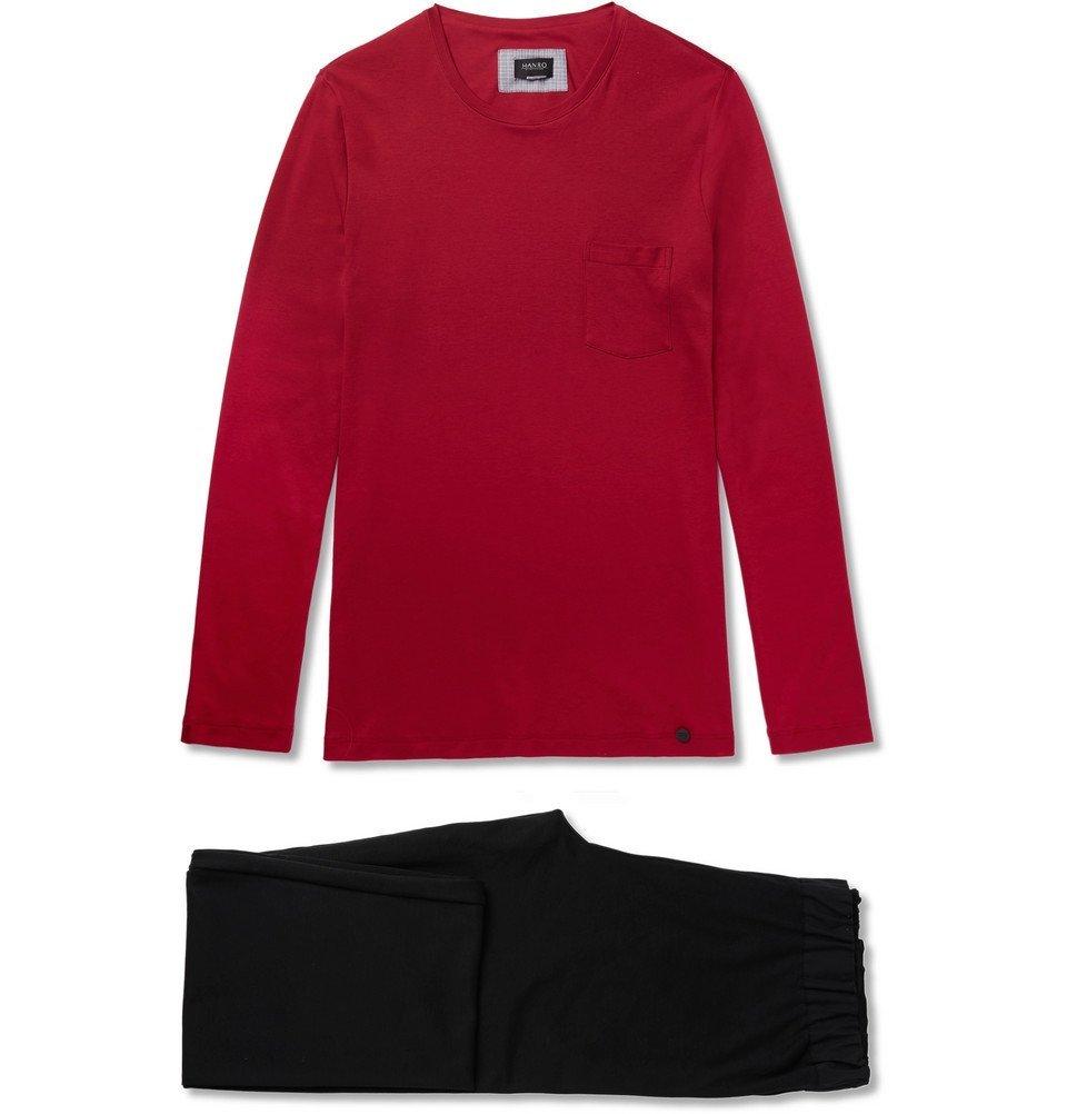 Hanro - Cotton-Jersey Pyjama Set - Men - Red