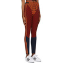 adidas Originals Orange Paolina Russo Edition Ribbed Leggings