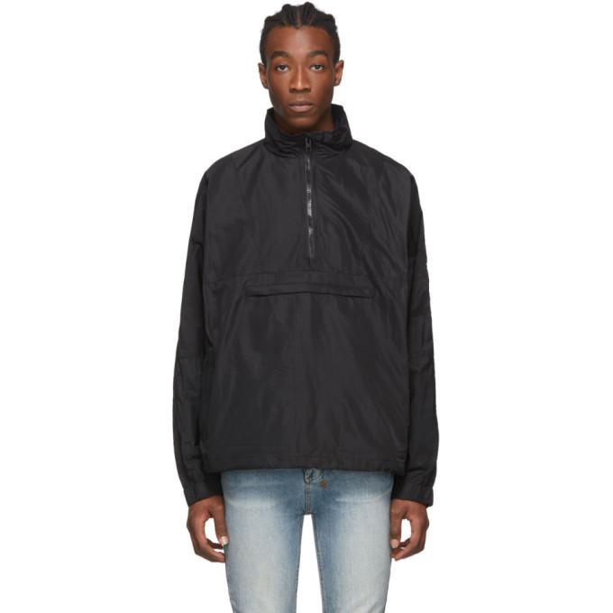 Ksubi Black Funnel Neck Sequence Jacket