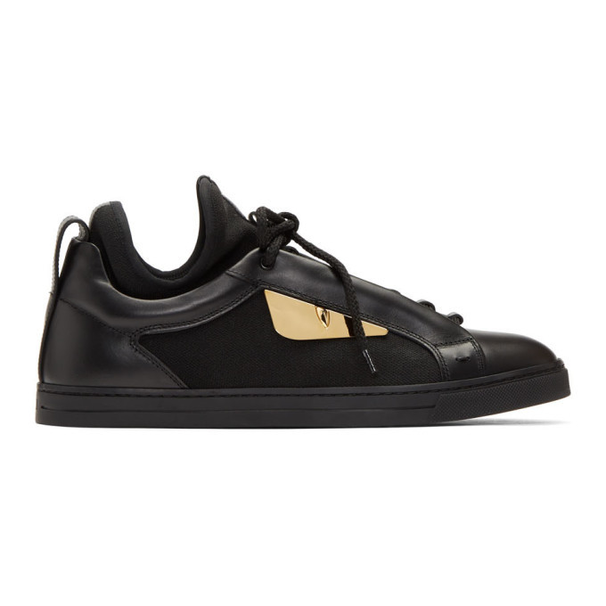 Photo: Fendi Black Bag Bugs Knit Sneakers