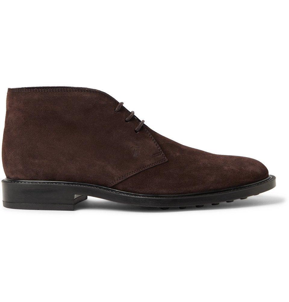 Tod's - Suede Desert Boots - Dark brown