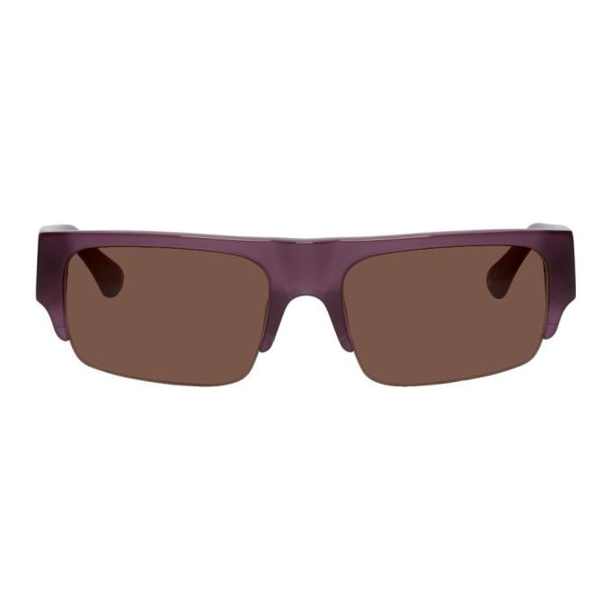 Photo: Dries Van Noten Purple Linda Farrow Edition 190 C4 Rectangular Sunglasses