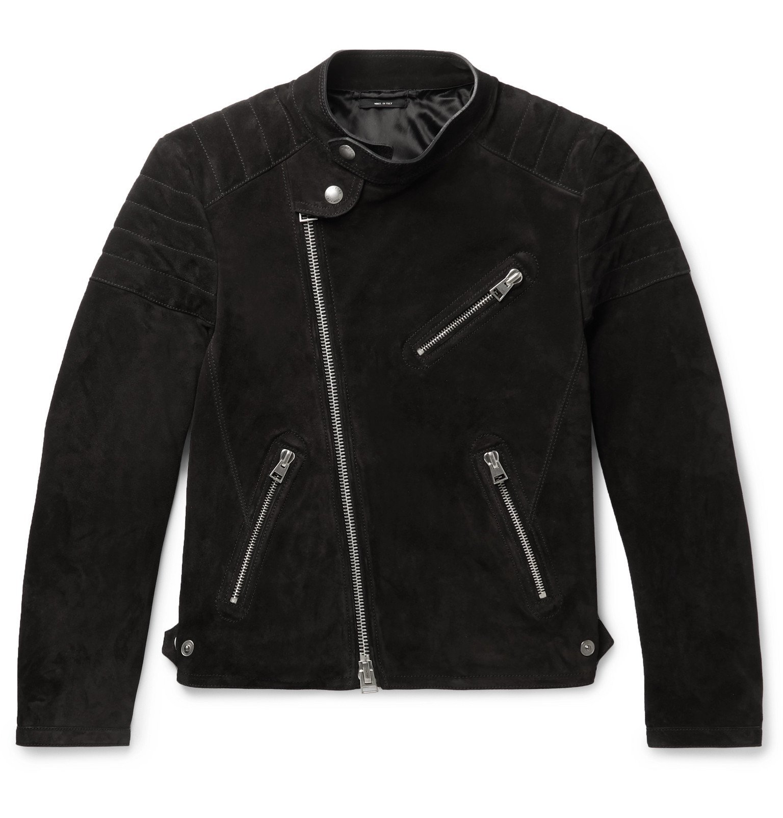 Photo: TOM FORD - Slim-Fit Suede Biker Jacket - Black