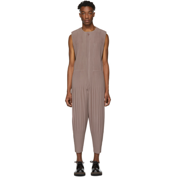 Photo: Homme Plisse Issey Miyake Brown Pleats Bottom 3 Jumpsuit