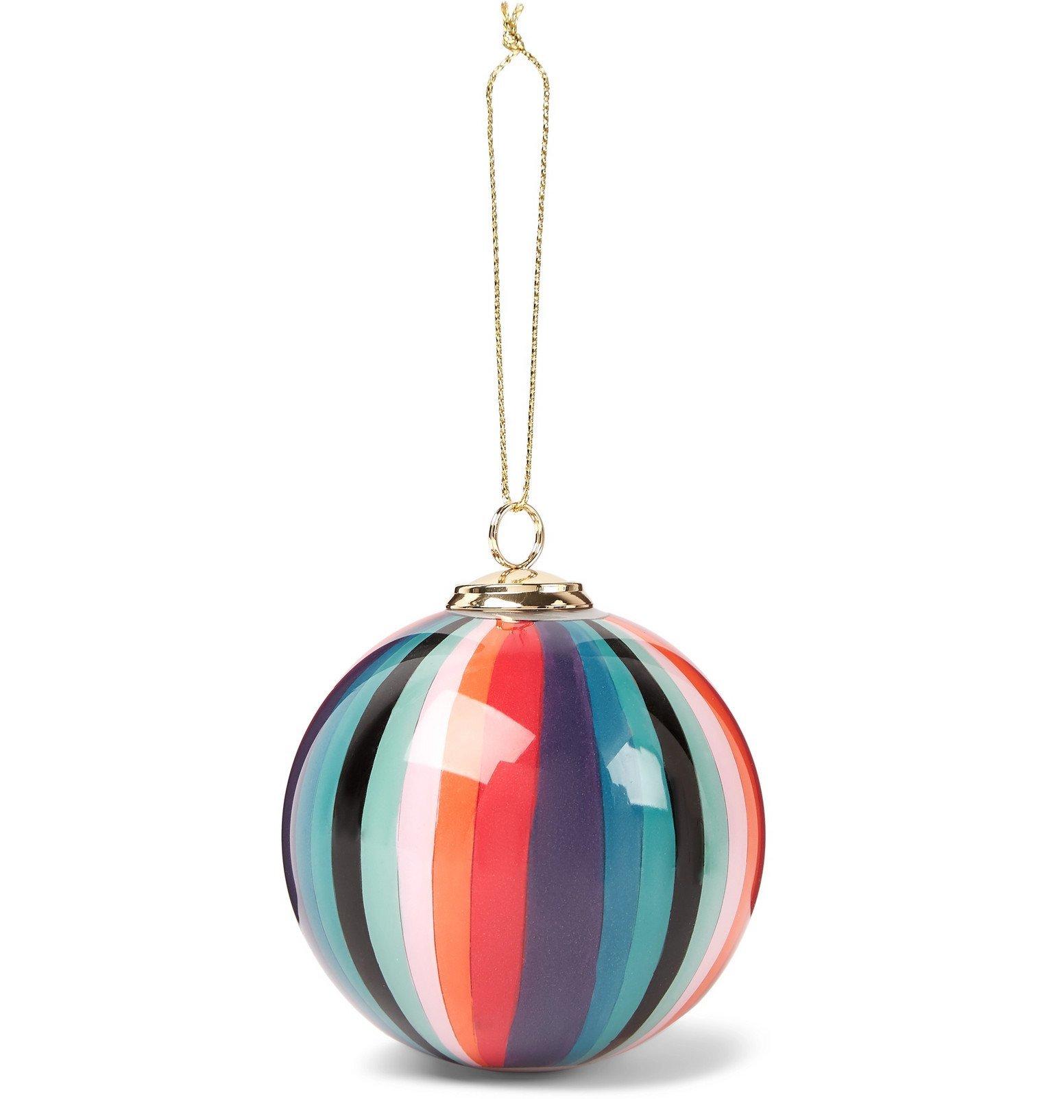 Photo: Paul Smith - Striped Glass Bauble - Multi