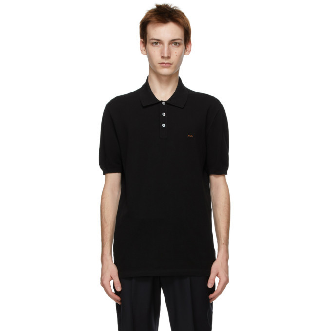 Photo: ermenegildo zegna couture Black Essential Short Sleeve Polo